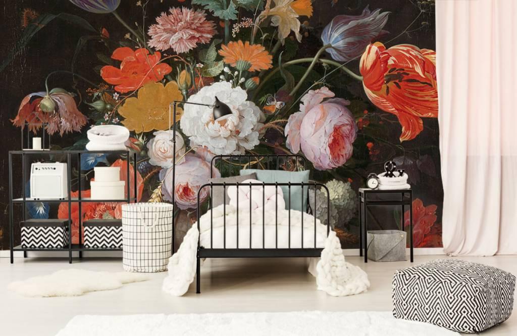 Rijksmuseum - Stilleven met bloemen en een horloge - Slaapkamer 4