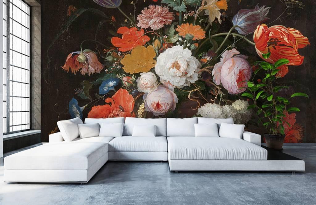 Rijksmuseum - Stilleven met bloemen en een horloge - Slaapkamer 8