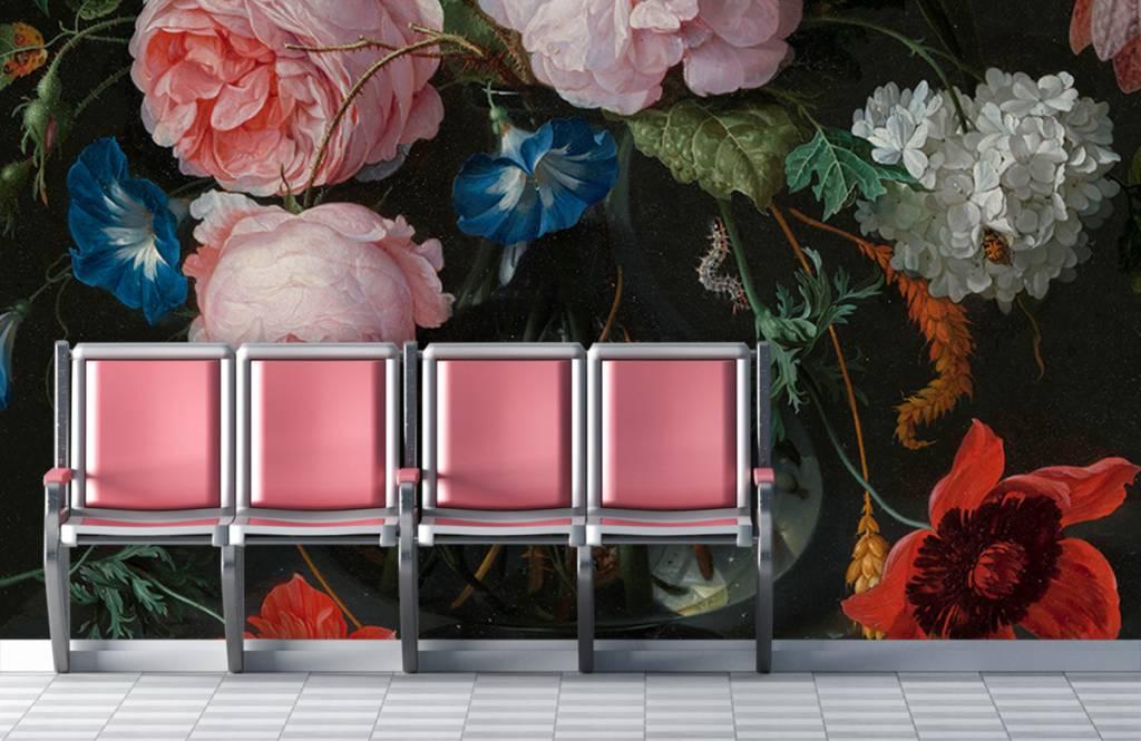 Stillevens en Bloemen - Stilleven met bloemen in een glazen vaas - Slaapkamer 2
