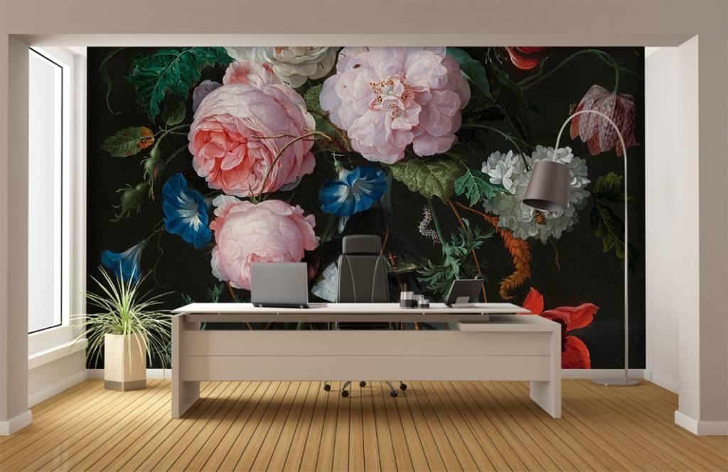 Stillevens en Bloemen - Stilleven met bloemen in een glazen vaas - Slaapkamer 5
