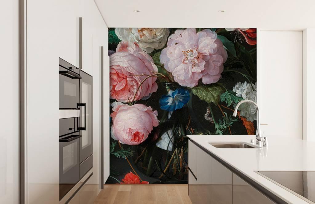 Stillevens en Bloemen - Stilleven met bloemen in een glazen vaas - Slaapkamer 6