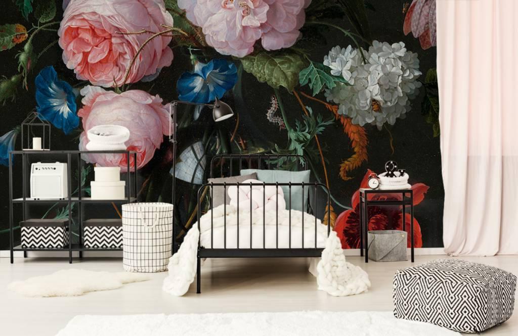 Stillevens en Bloemen - Stilleven met bloemen in een glazen vaas - Slaapkamer 8