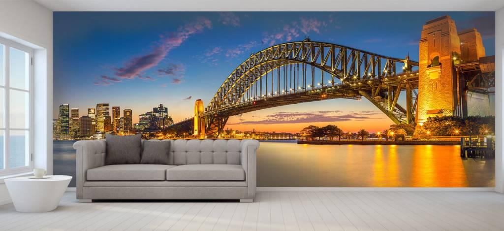 Skylines - Sydney op fotobehang - Directie 5
