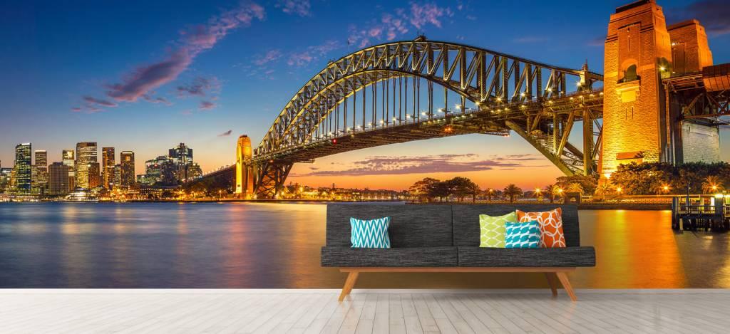Skylines - Sydney op fotobehang - Directie 8