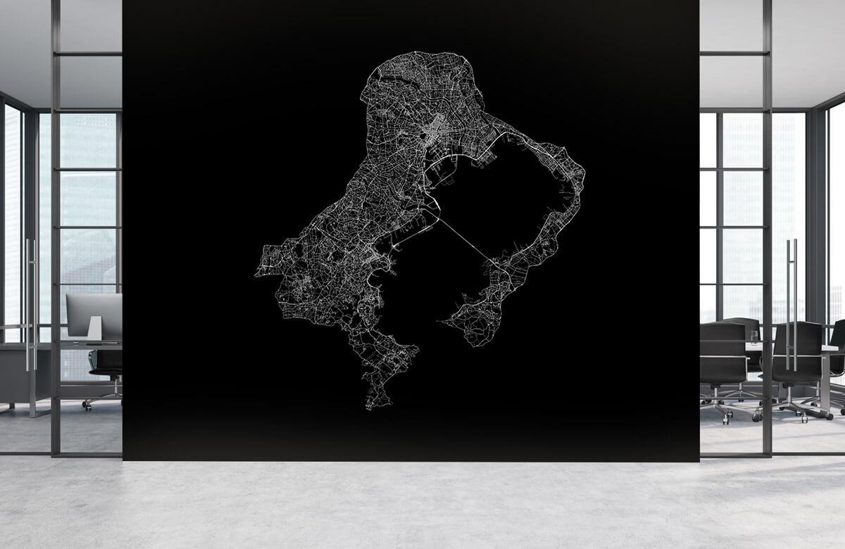Kaarten - Plattegrond van Tokio, zwart - Ontvangstruimte 3