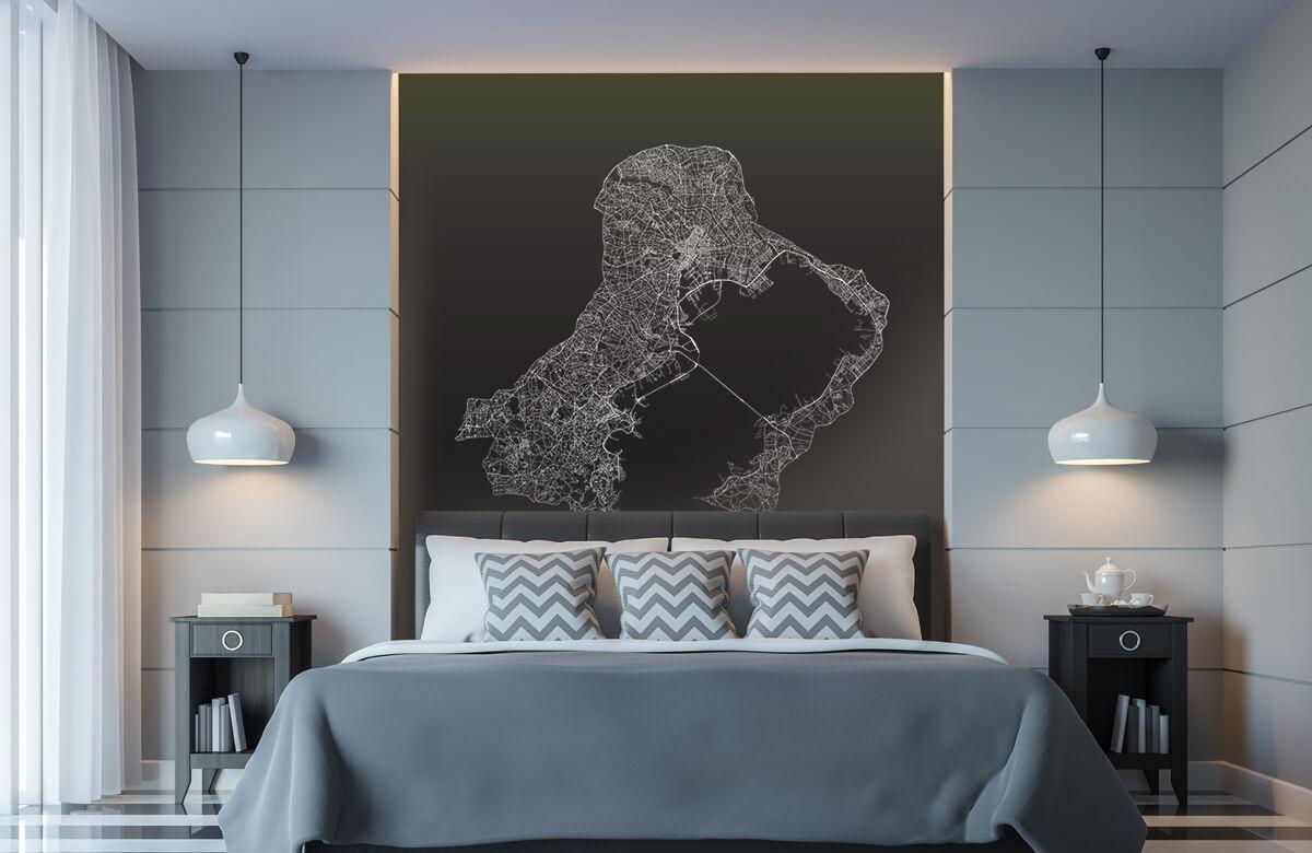 Kaarten - Plattegrond van Tokio, zwart - Ontvangstruimte 8