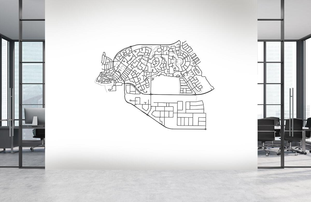 Kaarten - Plattegrond van Tokio, wit - Showroom 3