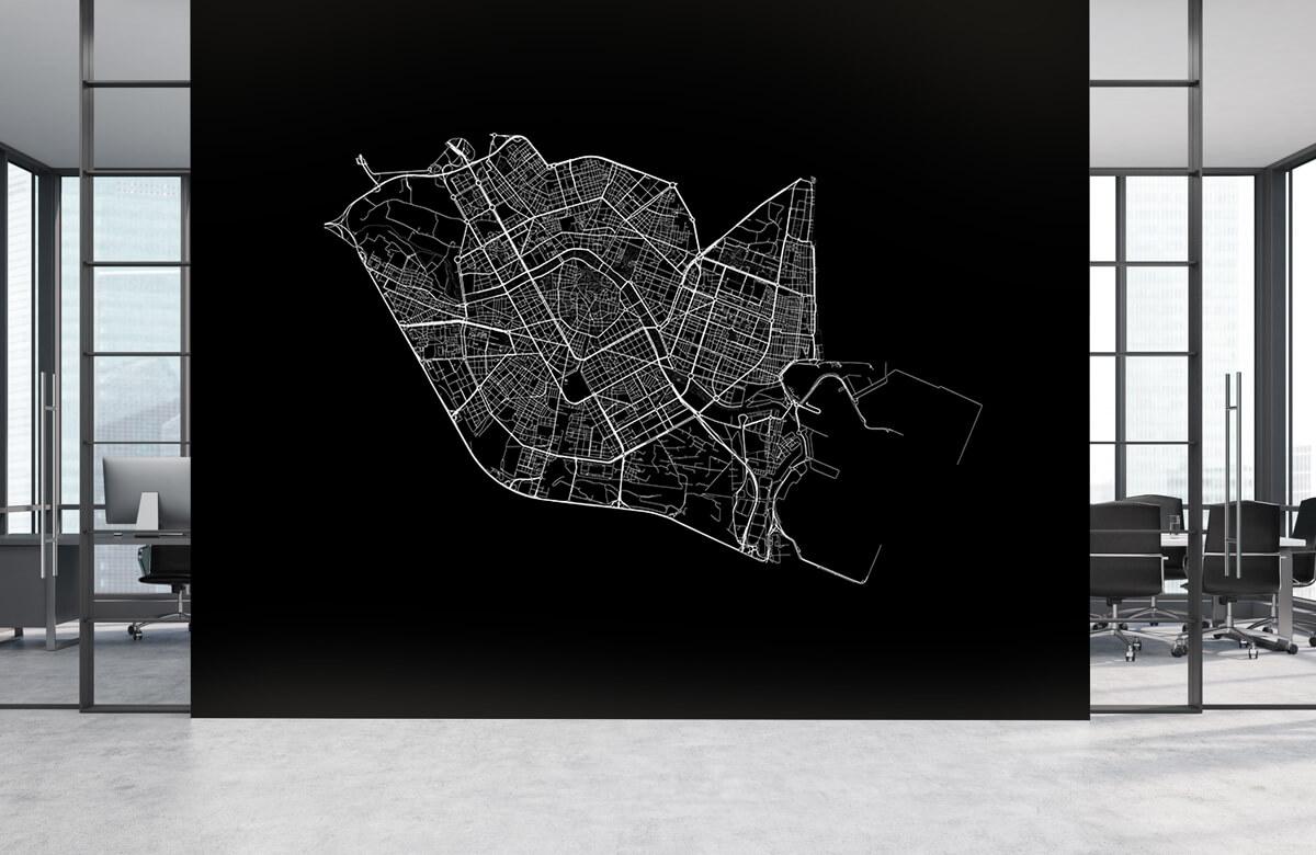 Kaarten - Plattegrond van Valencia, zwart - Kantine 3