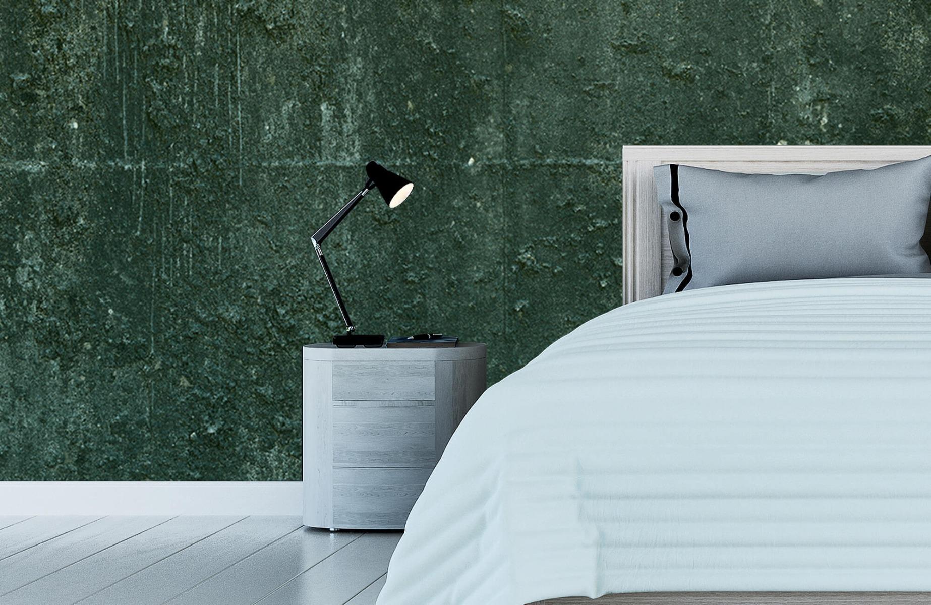 Betonlook behang - Groen betonlook - Hal 13
