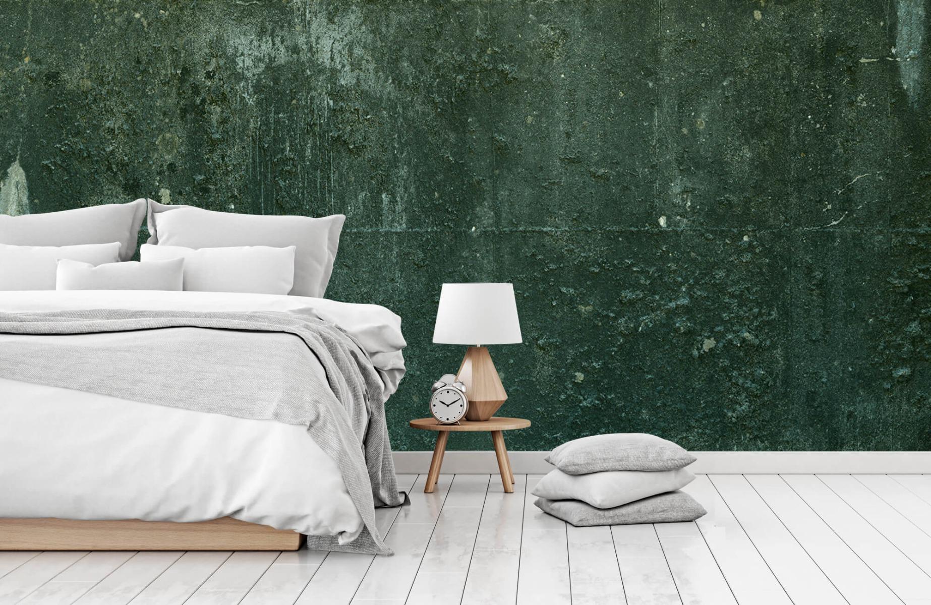 Betonlook behang - Groen betonlook - Hal 15