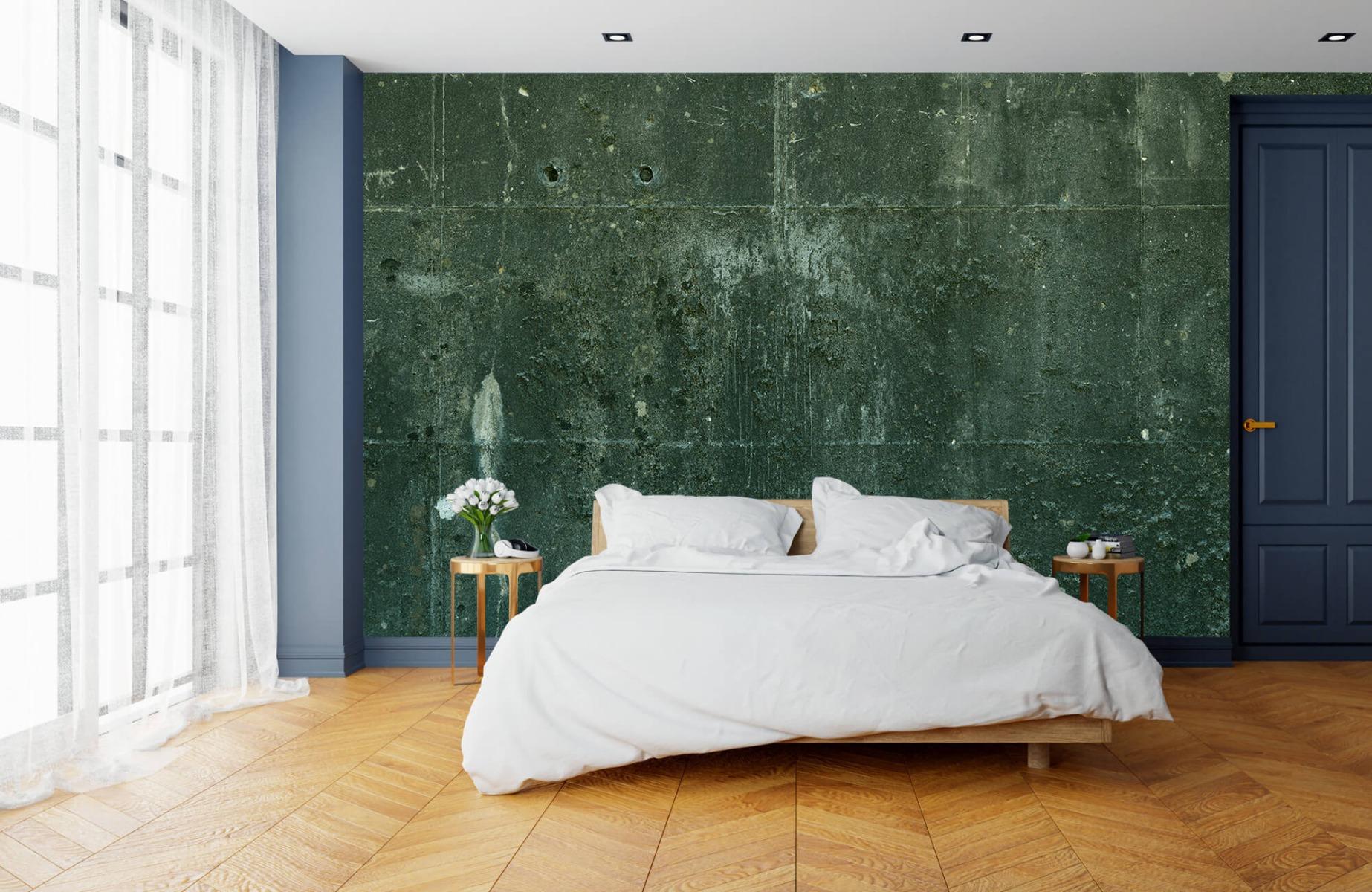 Betonlook behang - Groen betonlook - Hal 16