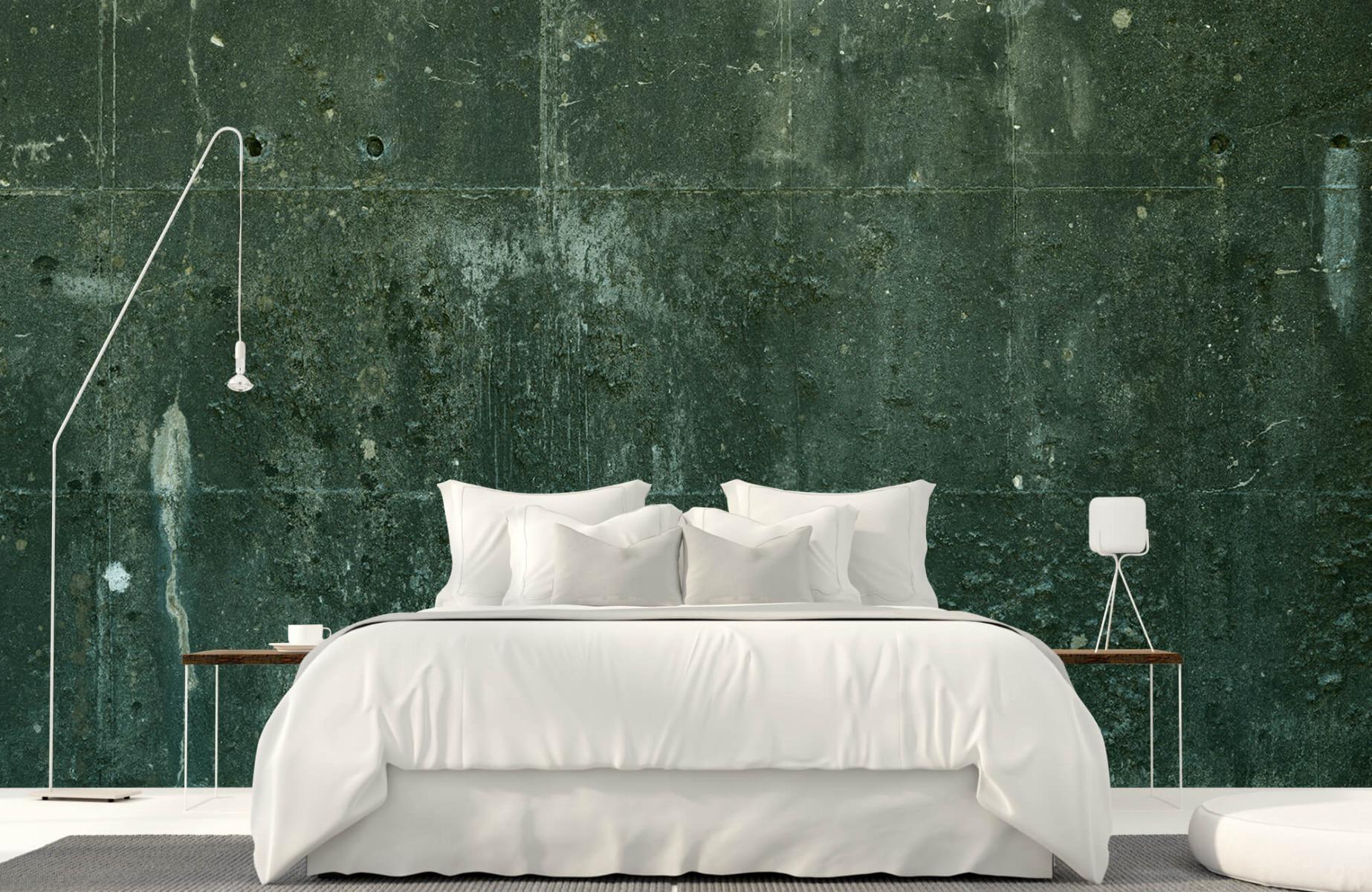 Betonlook behang - Groen betonlook - Hal 17