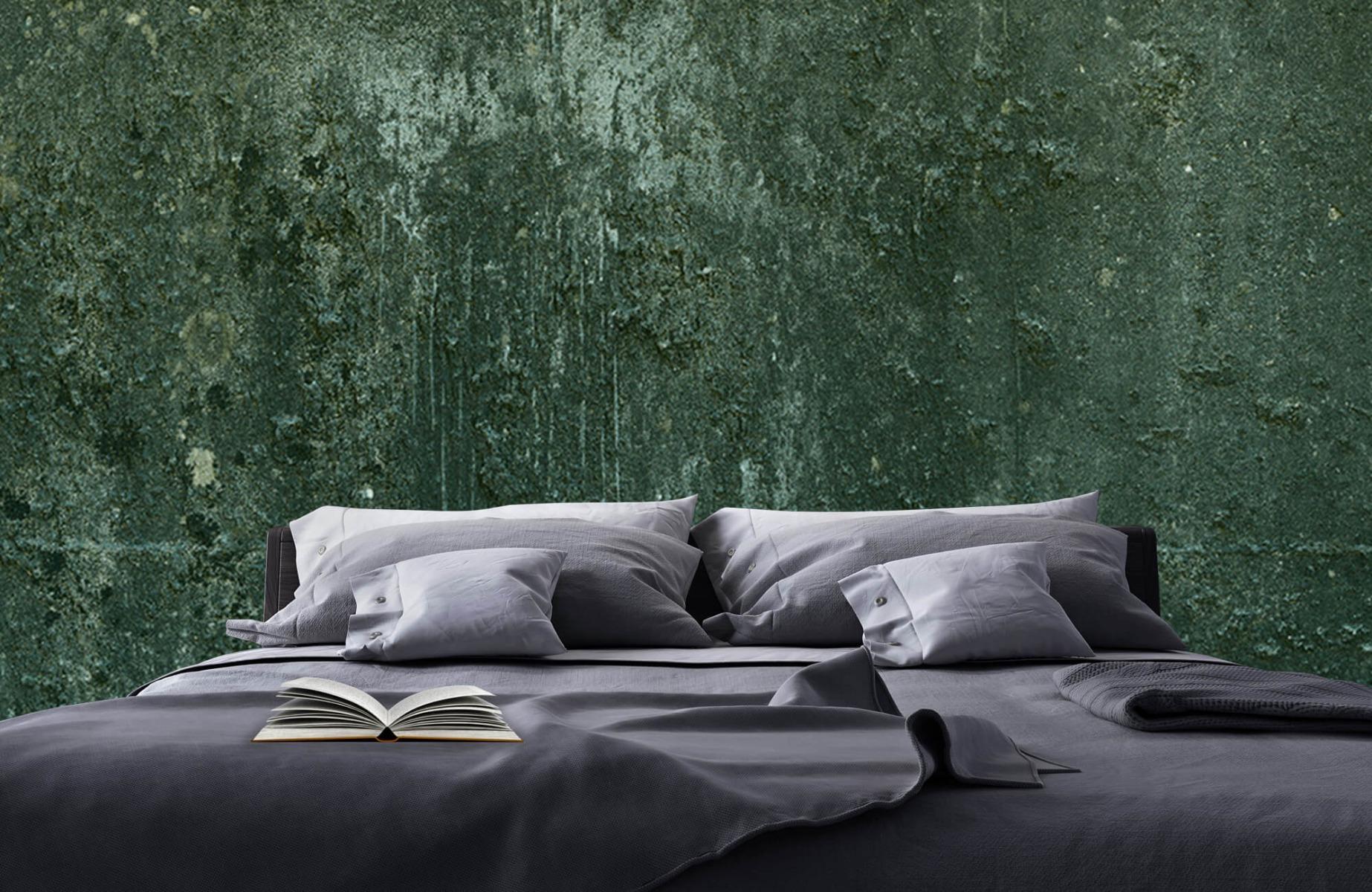 Betonlook behang - Groen betonlook - Hal 18
