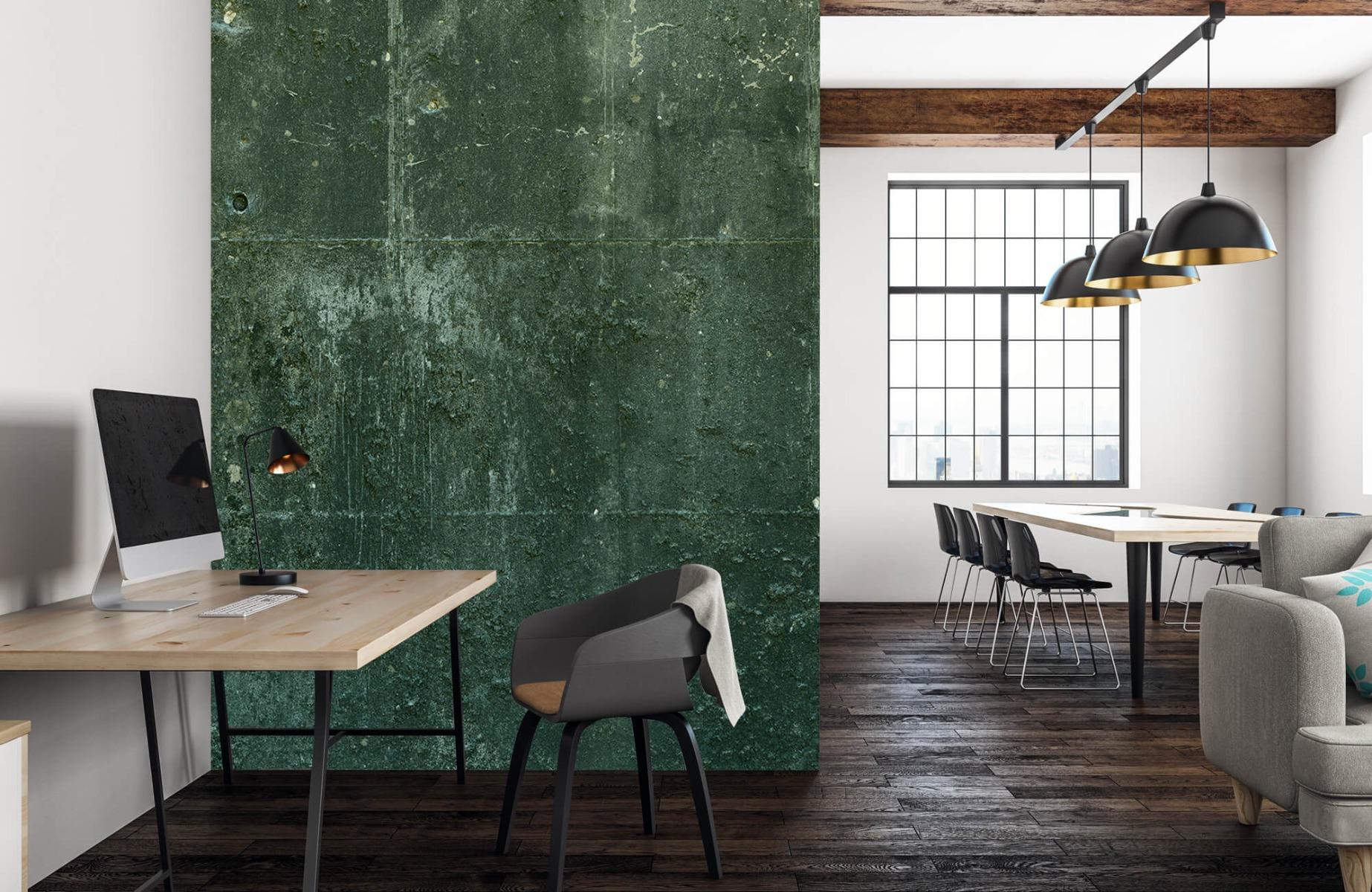 Betonlook behang - Groen betonlook - Hal 22