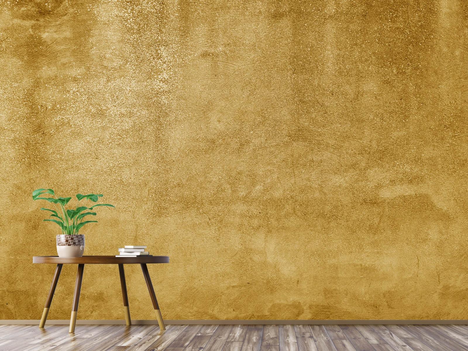 Betonlook behang - Oker geel beton - Woonkamer 5