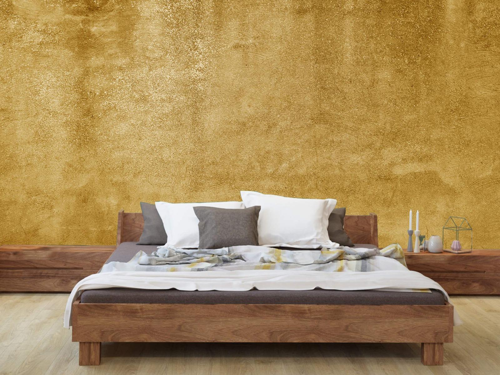 Betonlook behang - Oker geel beton - Woonkamer 8