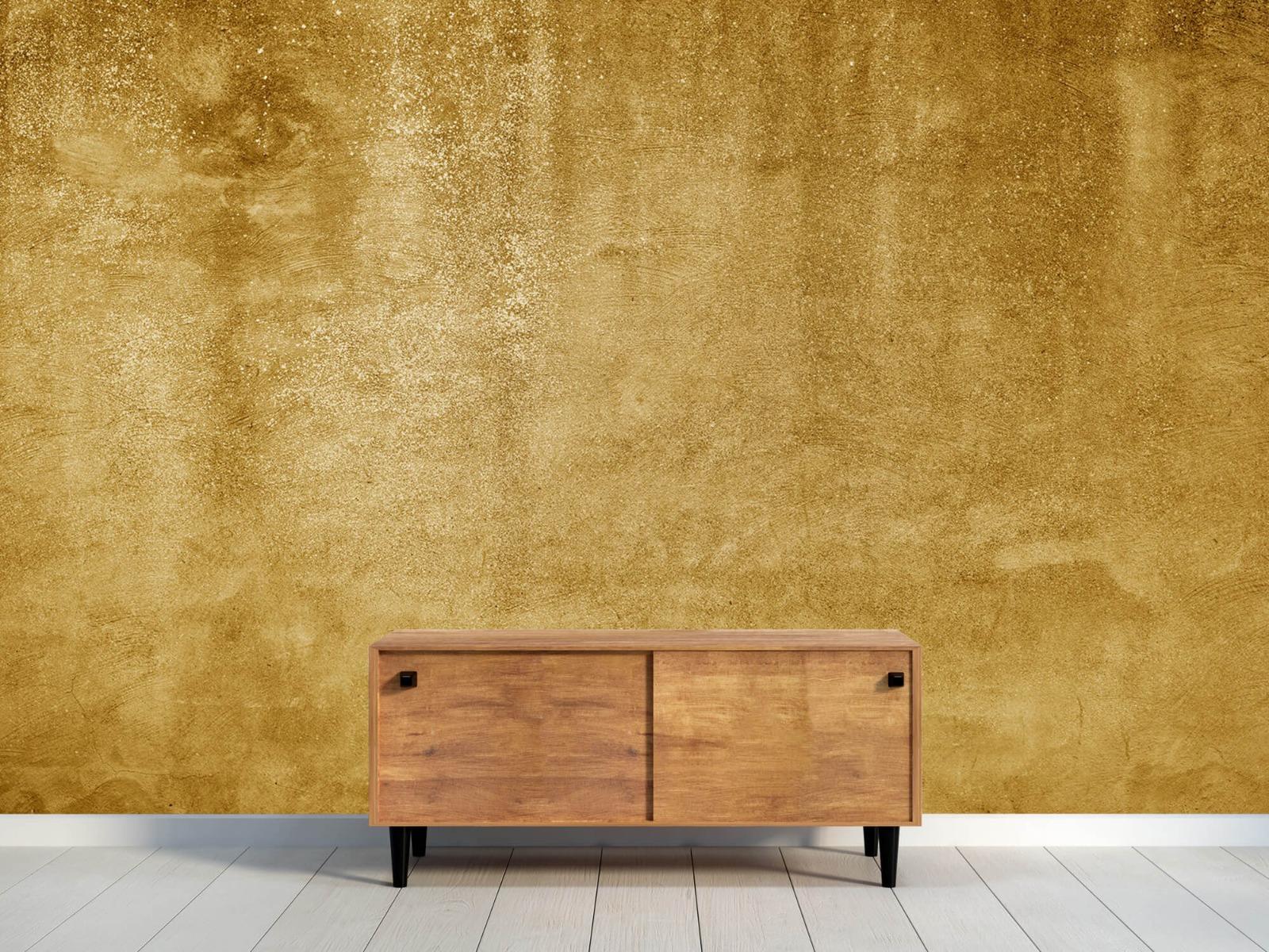 Betonlook behang - Oker geel beton - Woonkamer 10