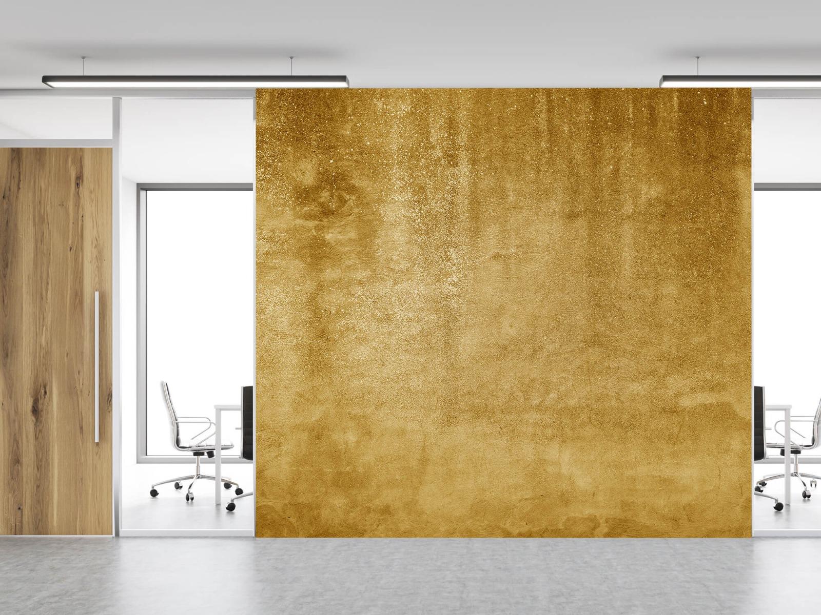 Betonlook behang - Oker geel beton - Woonkamer 12