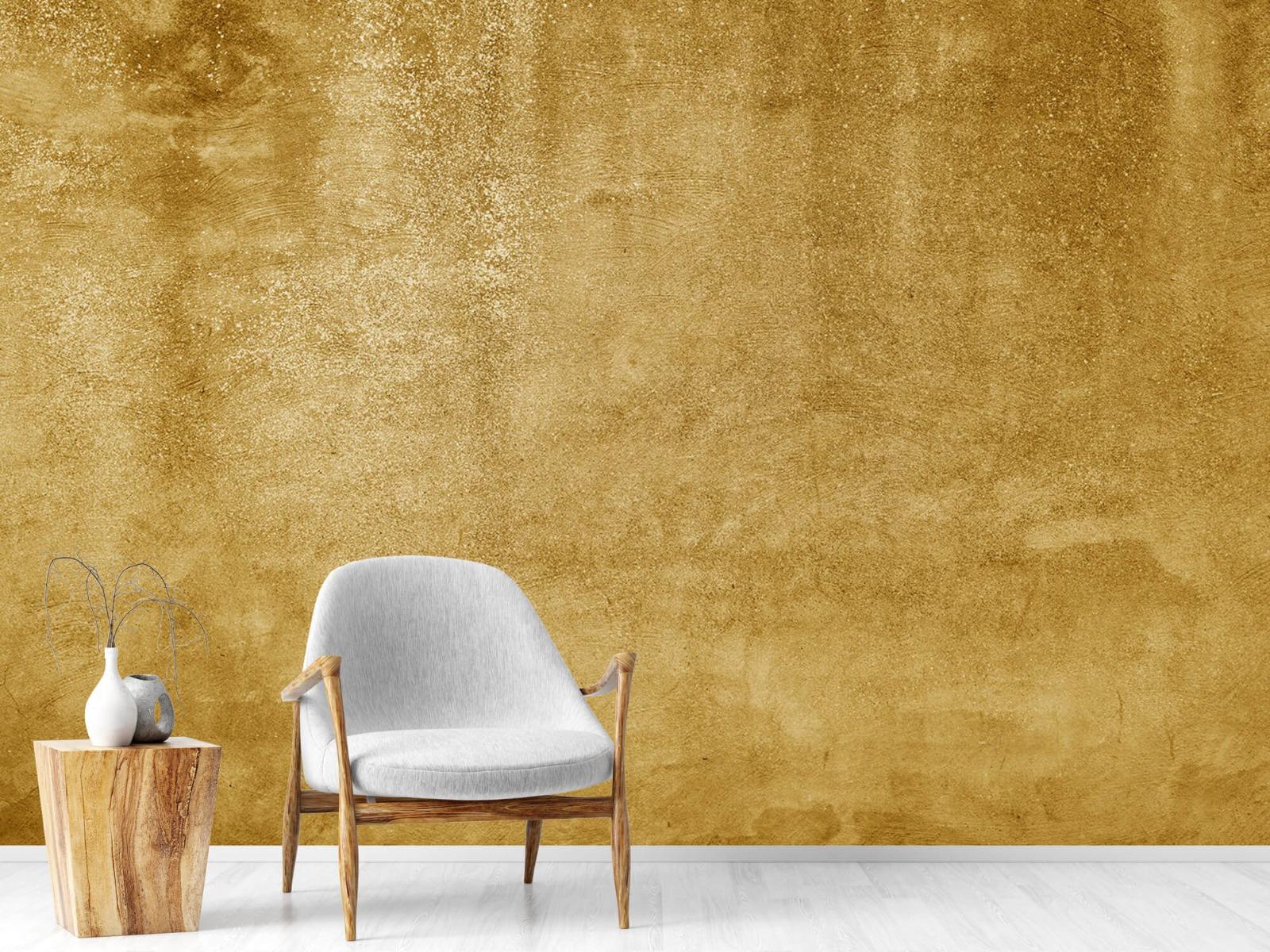 Betonlook behang - Oker geel beton - Woonkamer 18