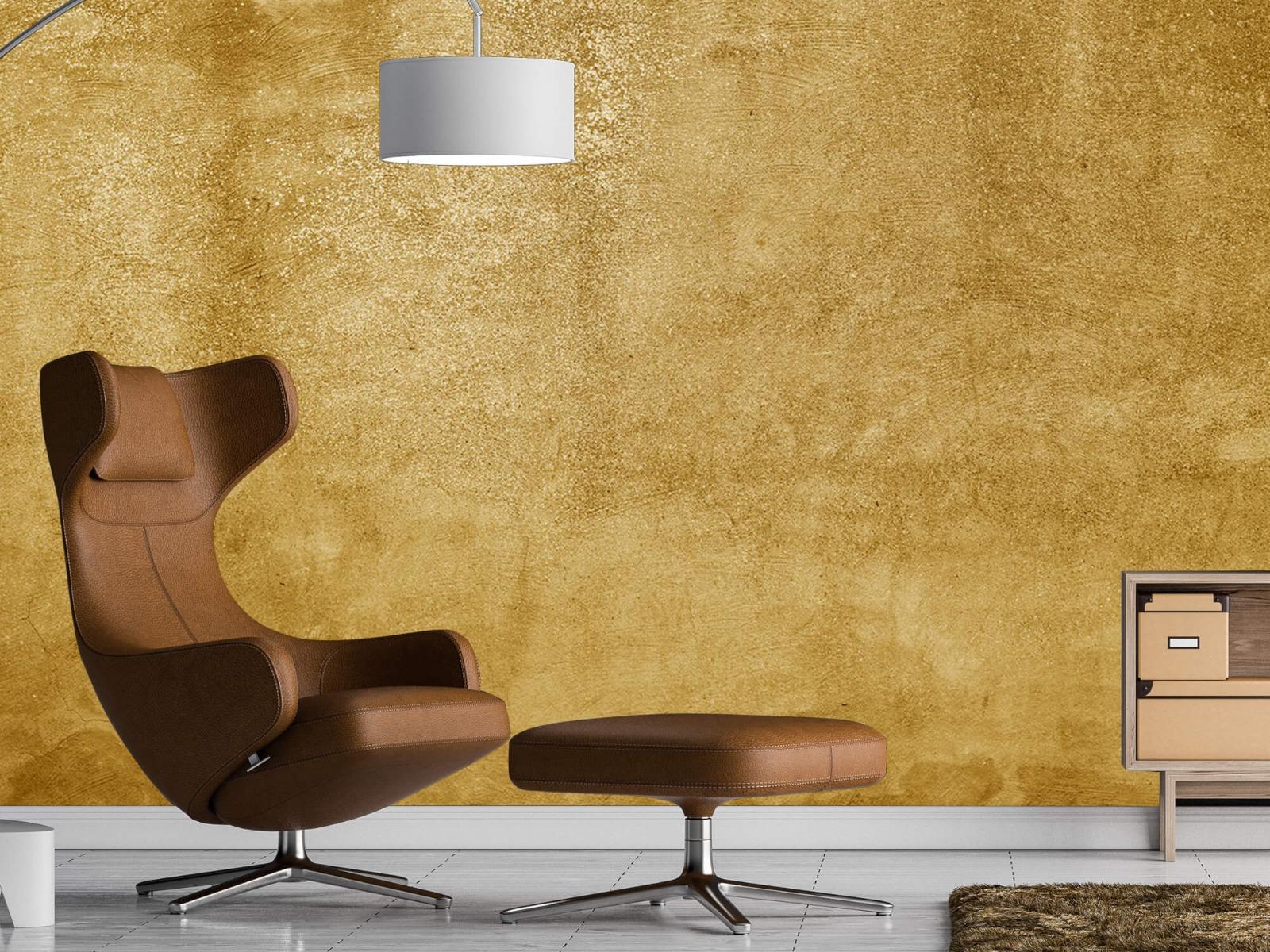 Betonlook behang - Oker geel beton - Woonkamer 19