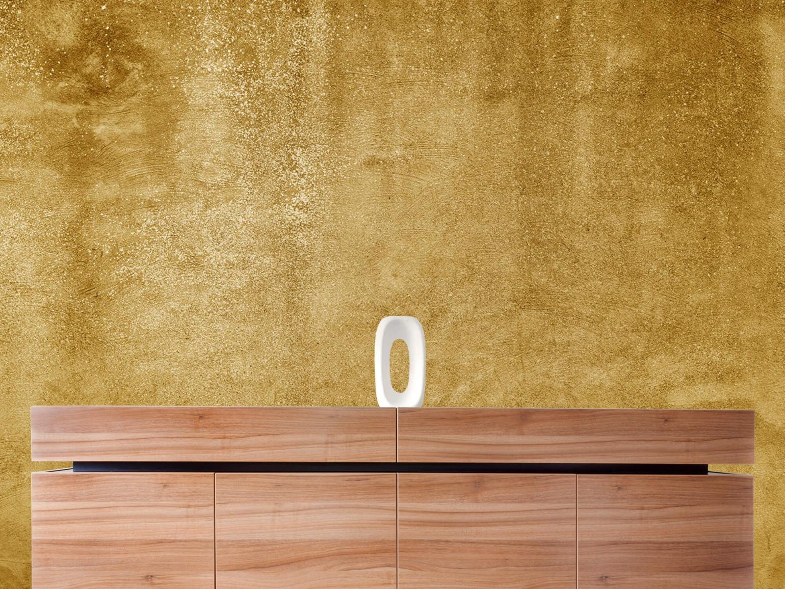 Betonlook behang - Oker geel beton - Woonkamer 20