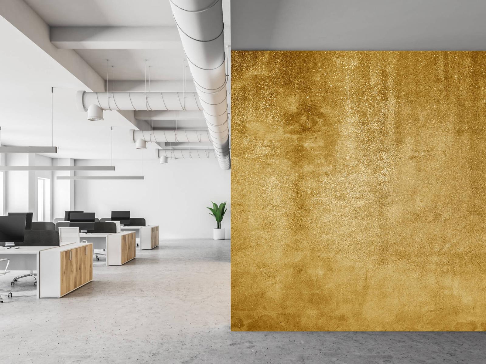 Betonlook behang - Oker geel beton - Woonkamer 21