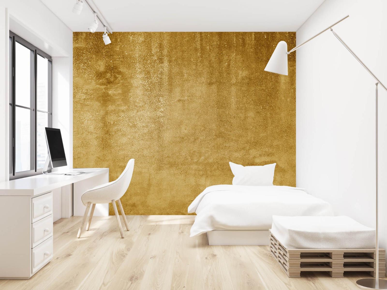 Betonlook behang - Oker geel beton - Woonkamer 22