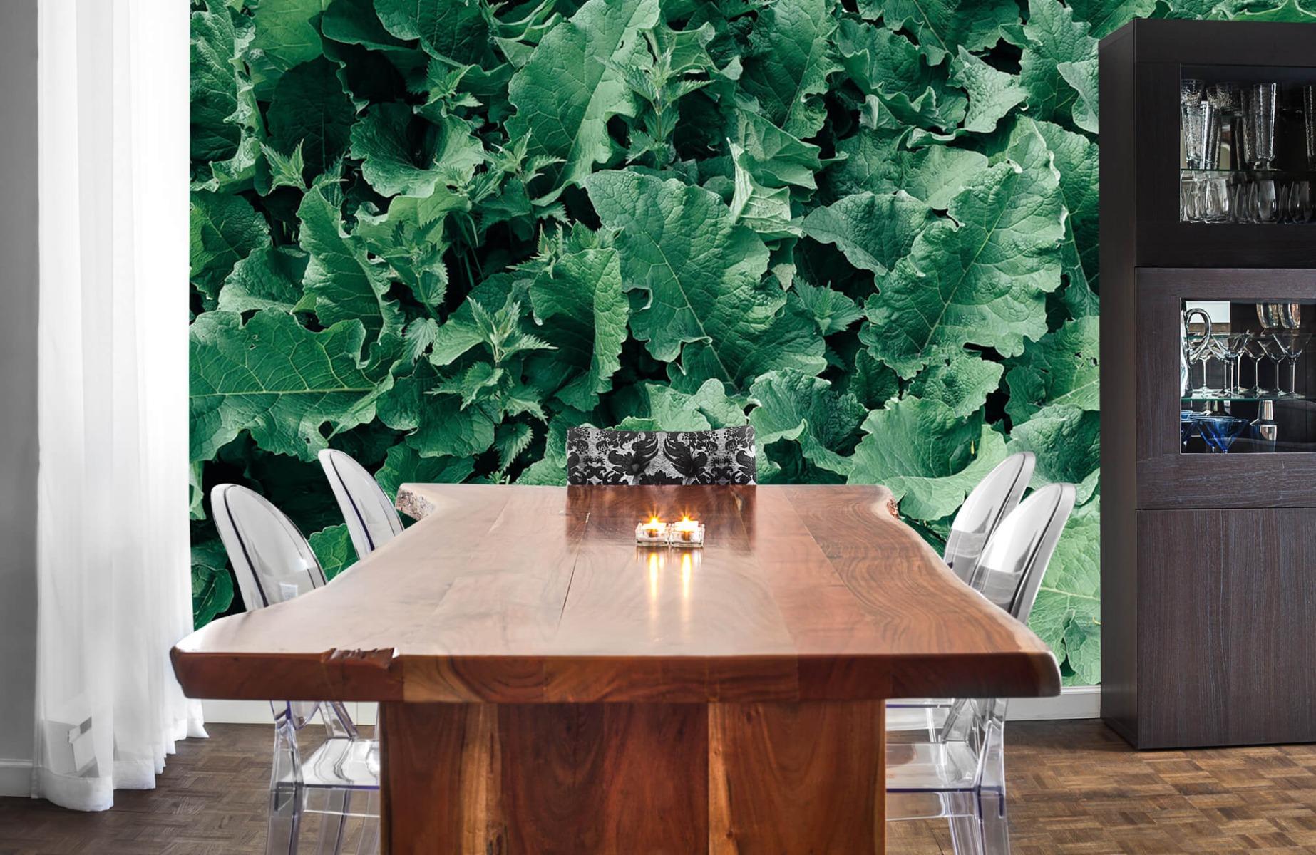Bladeren - Gedetailleerd groen bladerdek - Wallexclusive - Slaapkamer 3