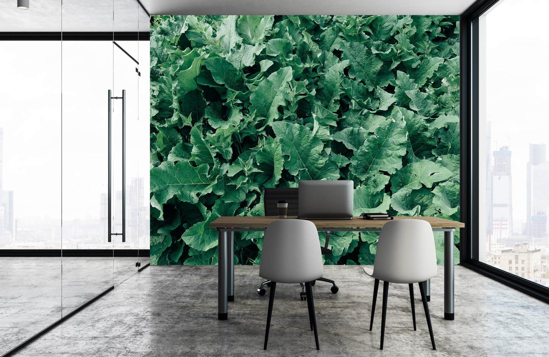 Bladeren - Gedetailleerd groen bladerdek - Wallexclusive - Slaapkamer 4