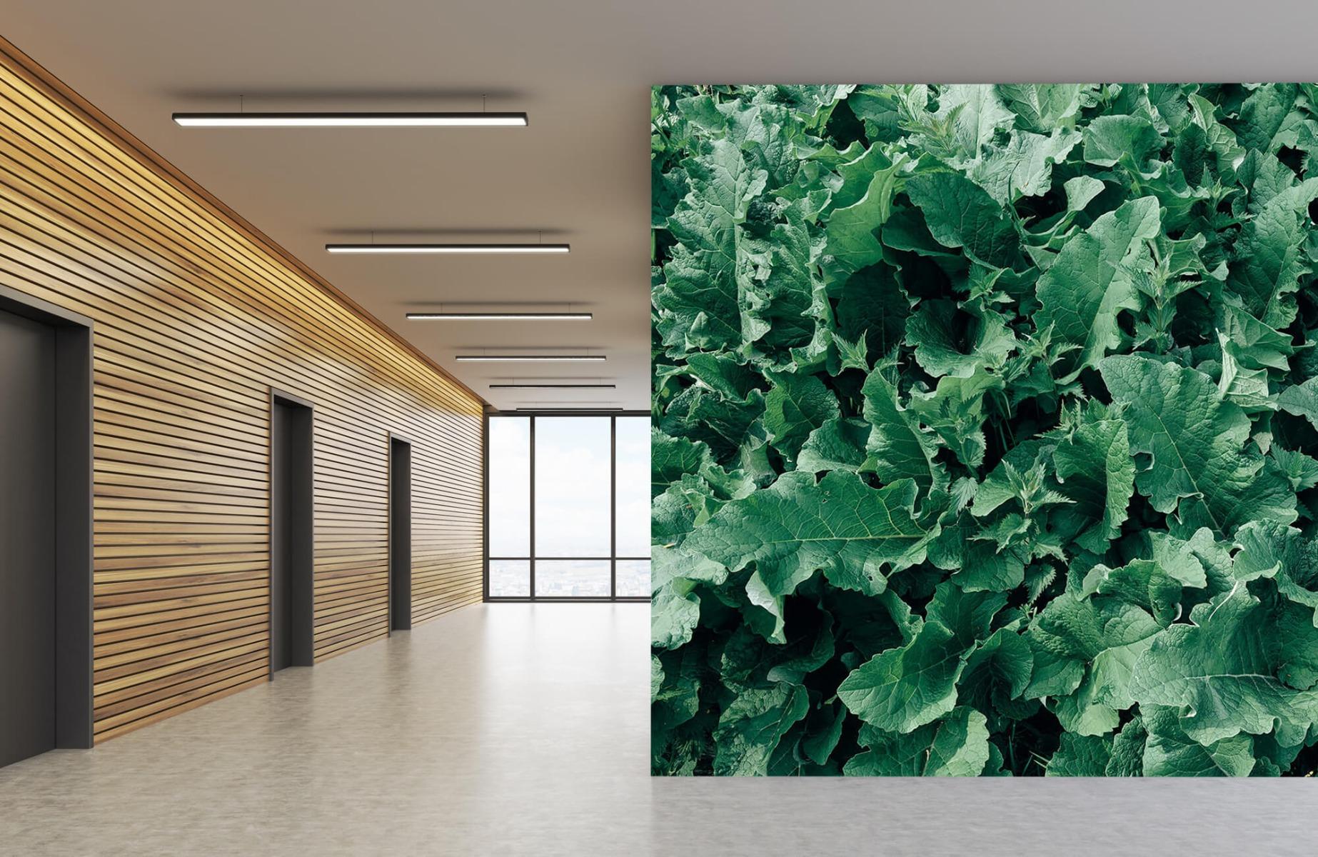 Bladeren - Gedetailleerd groen bladerdek - Wallexclusive - Slaapkamer 6