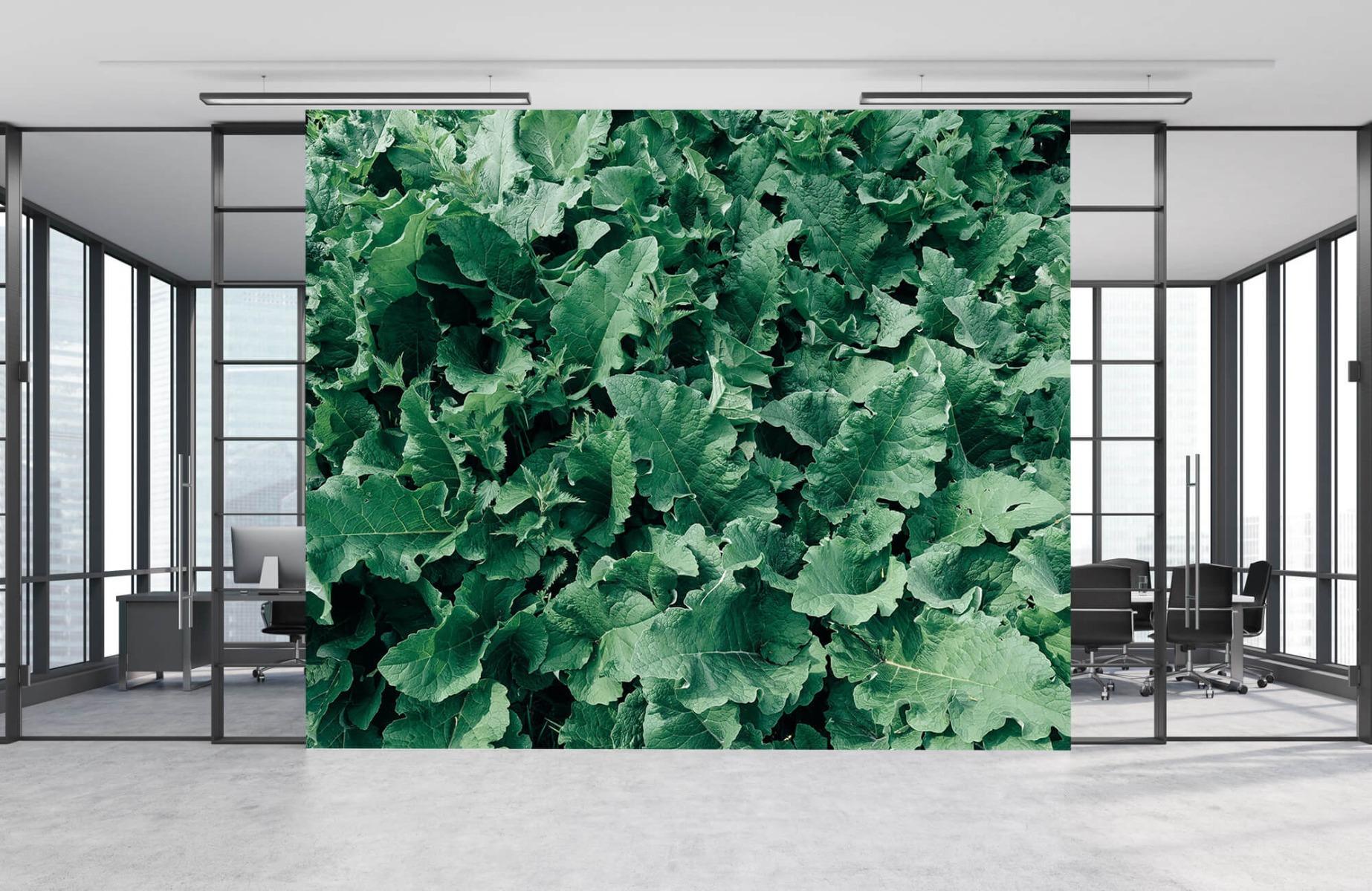 Bladeren - Gedetailleerd groen bladerdek - Wallexclusive - Slaapkamer 8
