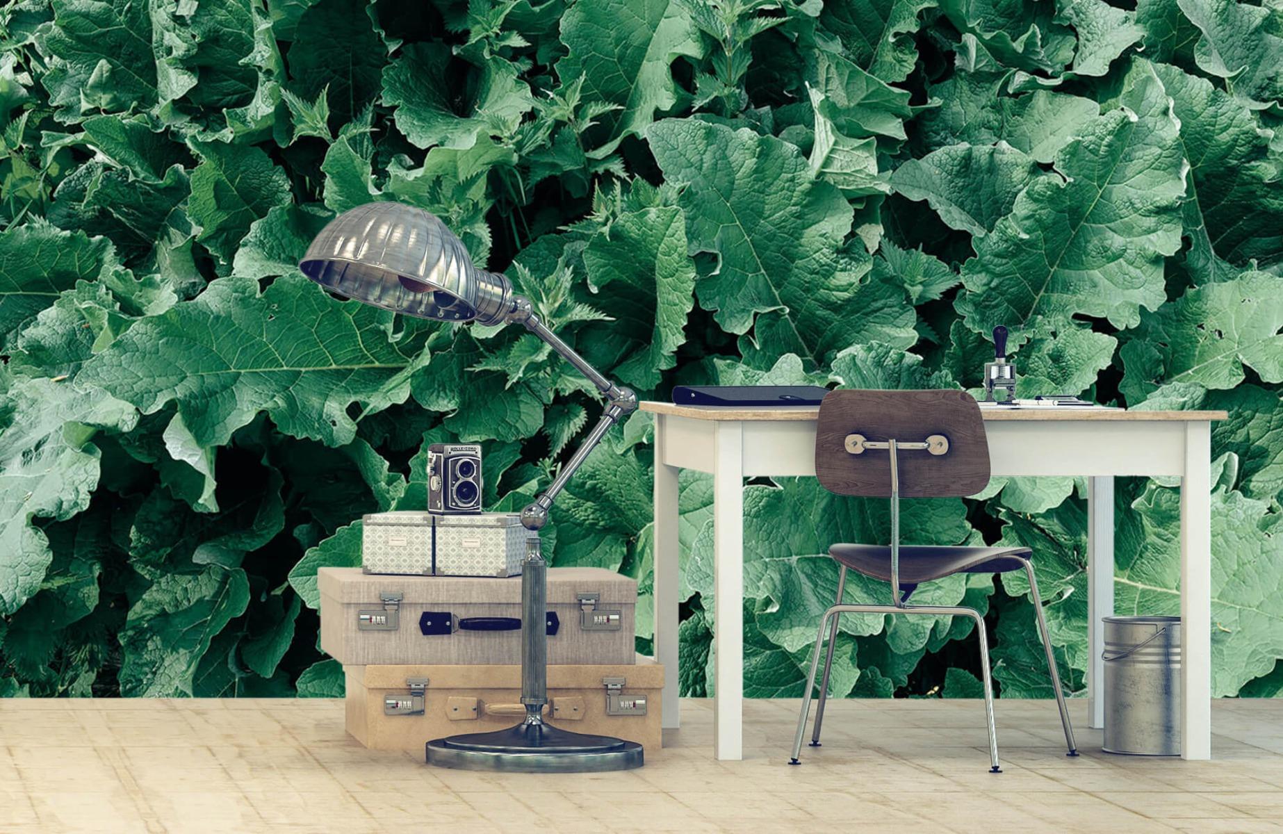 Bladeren - Gedetailleerd groen bladerdek - Wallexclusive - Slaapkamer 9