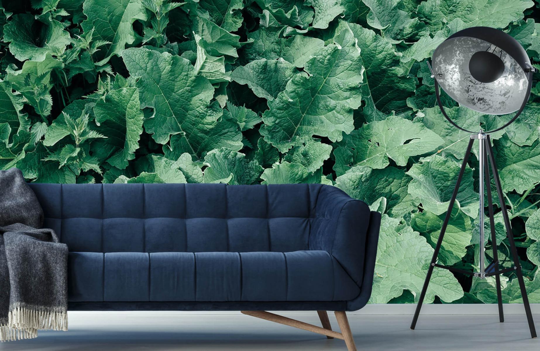 Bladeren - Gedetailleerd groen bladerdek - Wallexclusive - Slaapkamer 10