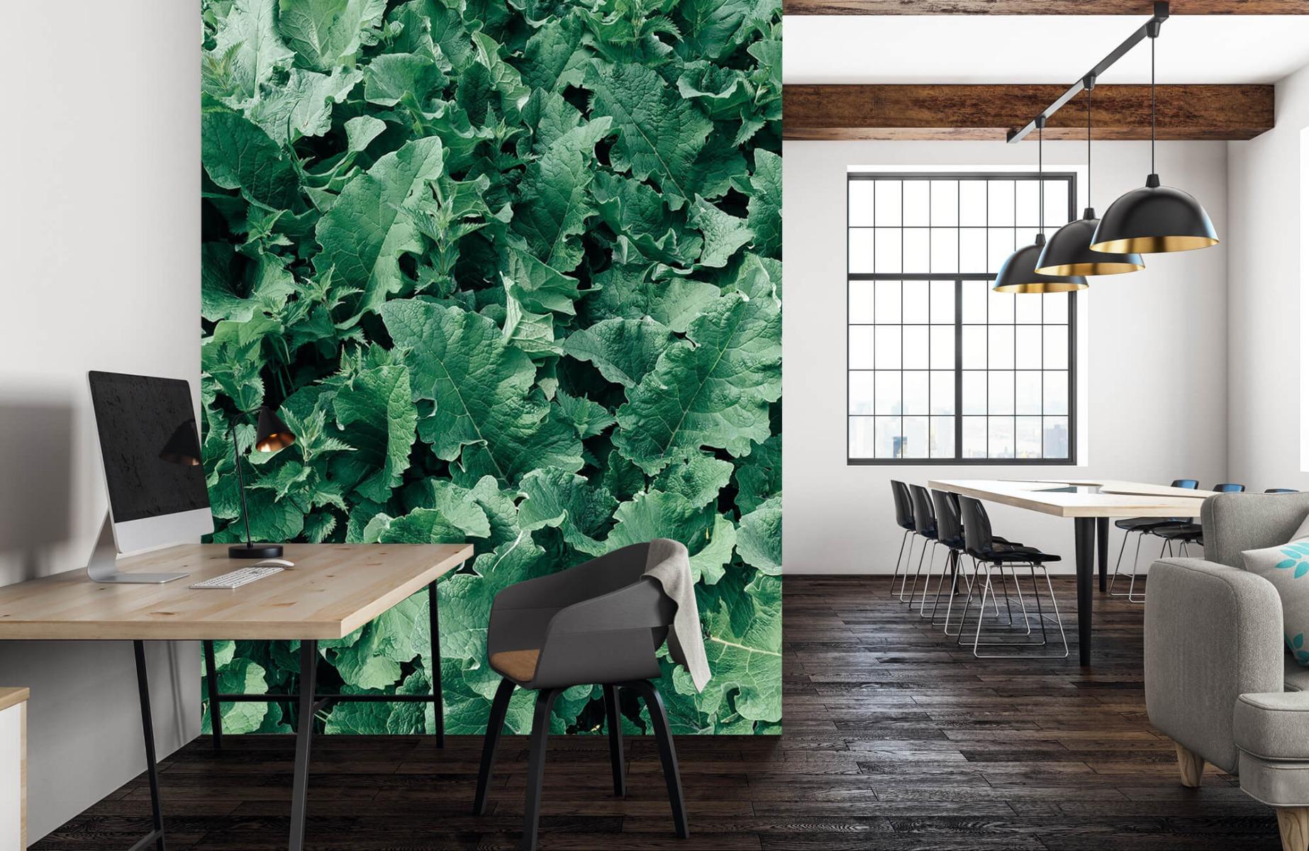 Bladeren - Gedetailleerd groen bladerdek - Wallexclusive - Slaapkamer 22