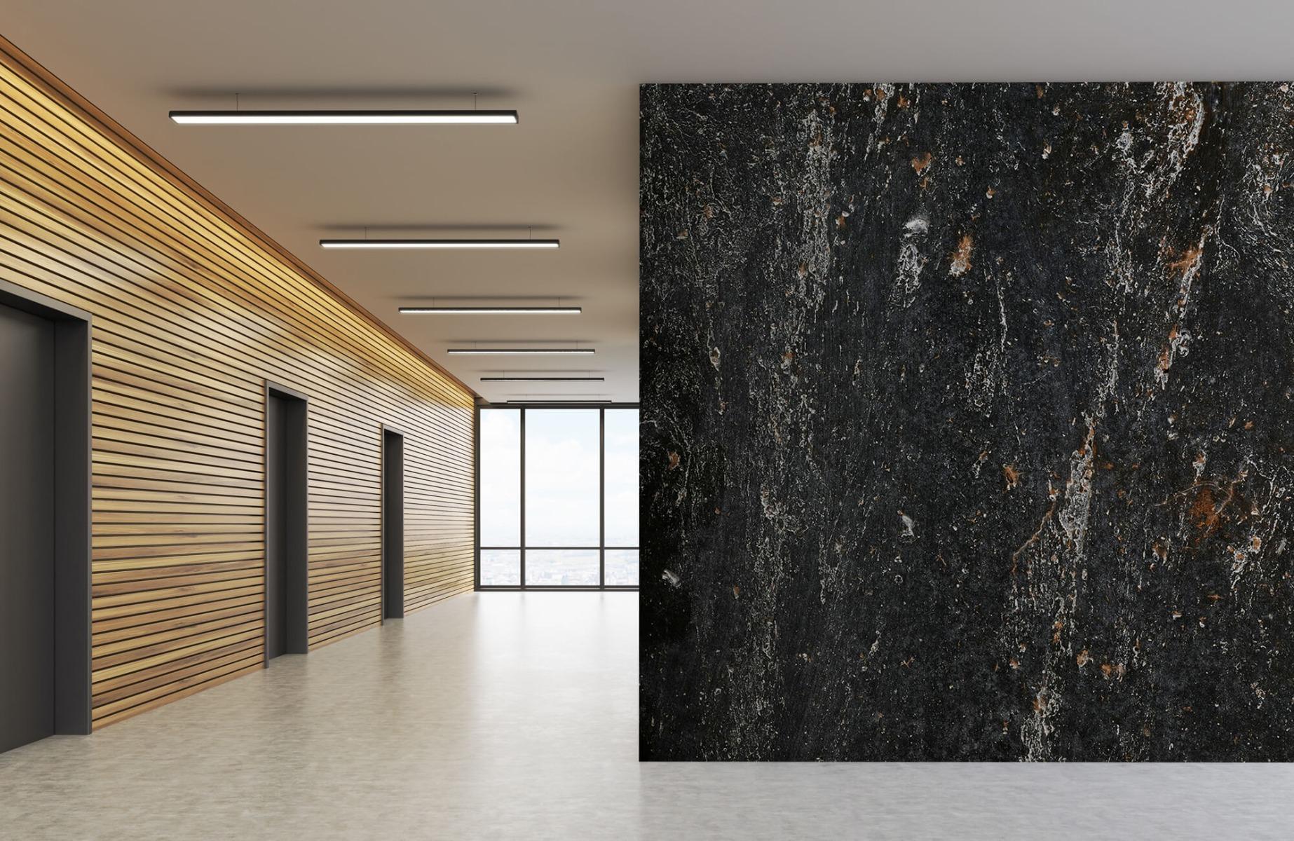 Zwart Wit behang - Steen - Wallexclusive - Woonkamer 7