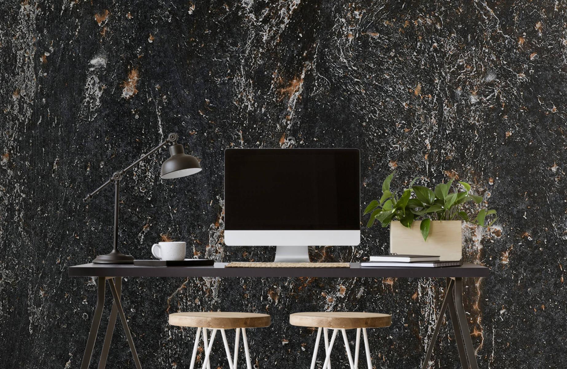 Zwart Wit behang - Steen - Wallexclusive - Woonkamer 8