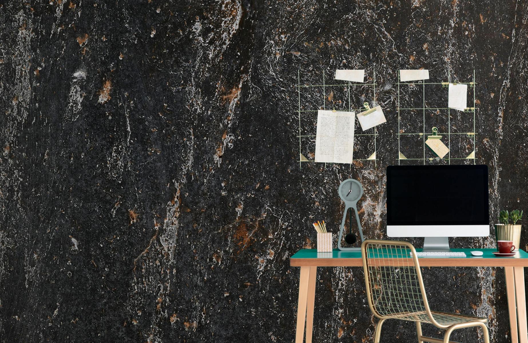 Zwart Wit behang - Steen - Wallexclusive - Woonkamer 9