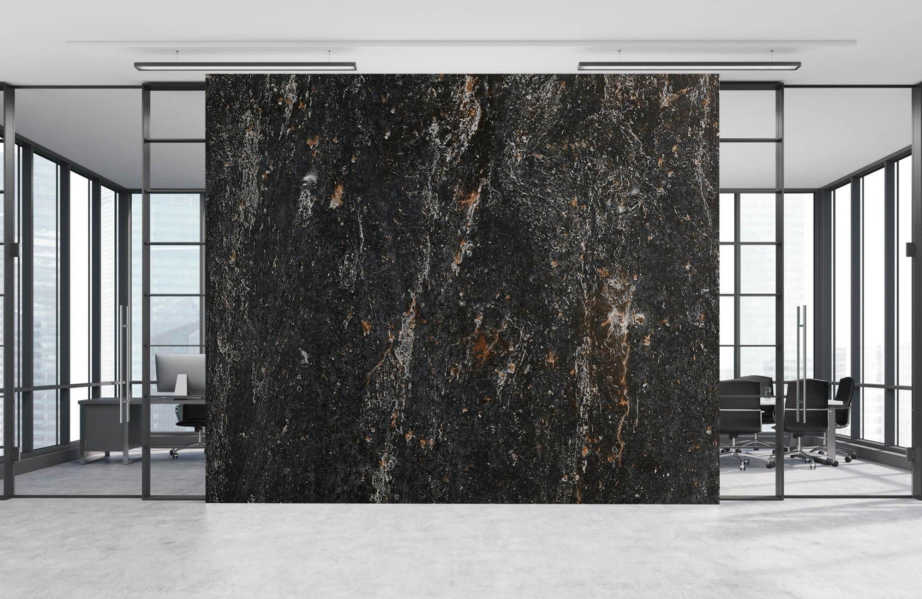 Zwart Wit behang - Steen - Wallexclusive - Woonkamer 2