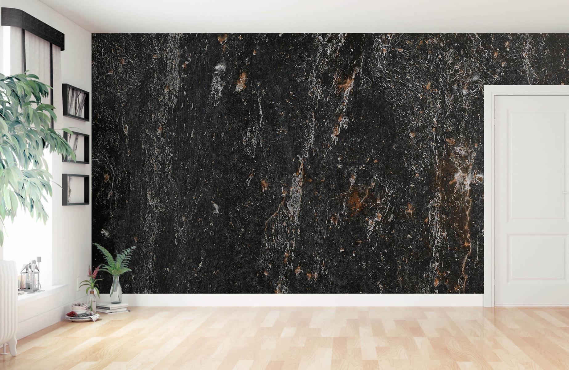 Zwart Wit behang - Steen - Wallexclusive - Woonkamer 1