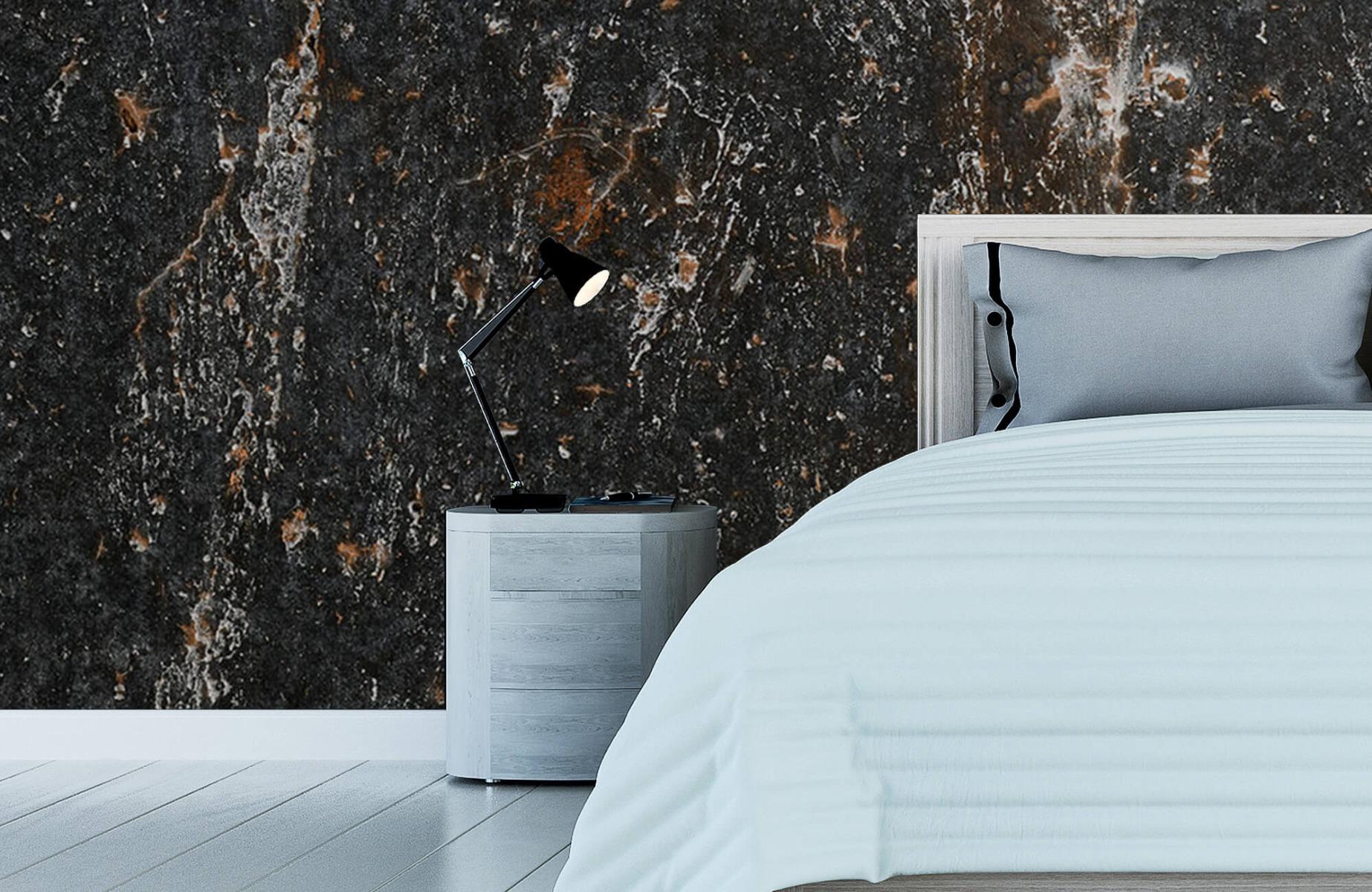 Zwart Wit behang - Steen - Wallexclusive - Woonkamer 12