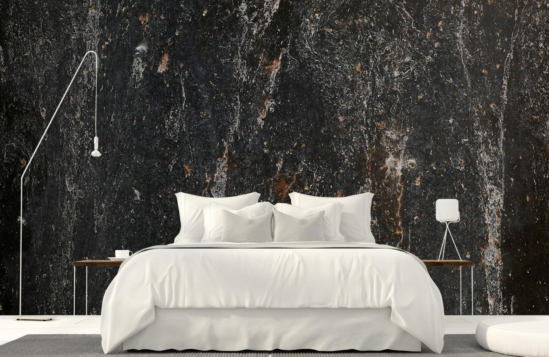 Zwart Wit behang - Steen - Wallexclusive - Woonkamer 16