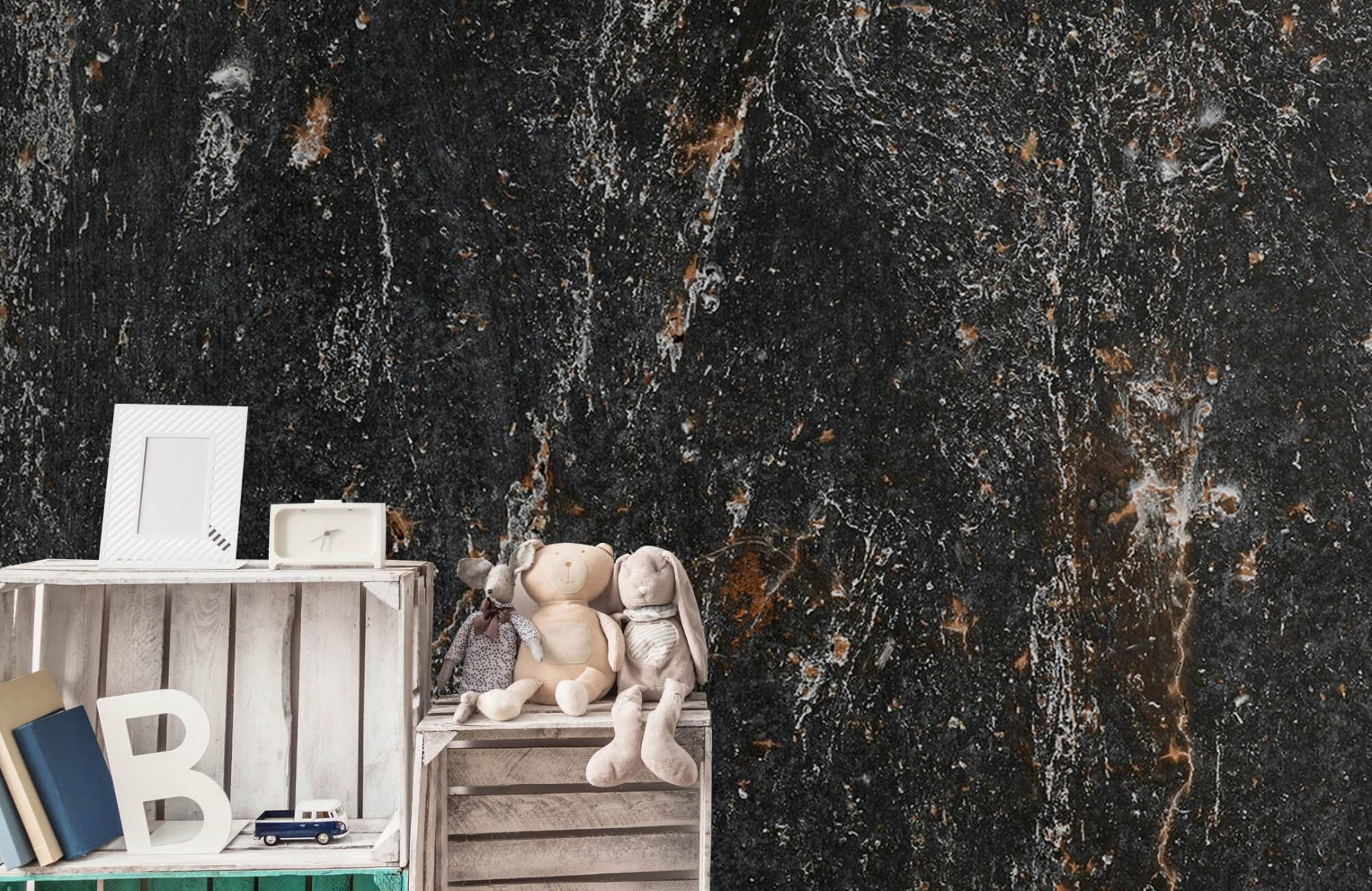 Zwart Wit behang - Steen - Wallexclusive - Woonkamer 19