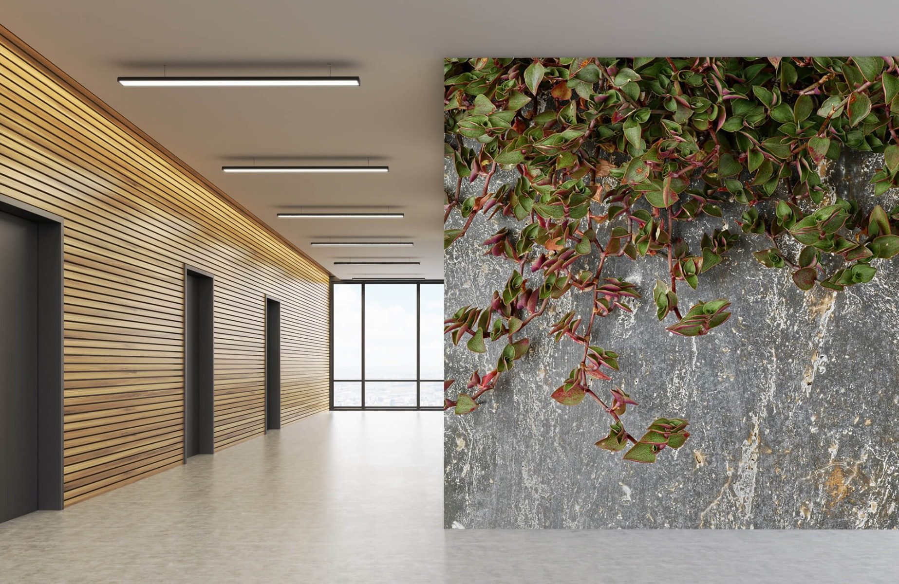 Bladeren - Plantenbak - Wallexclusive - Slaapkamer 1