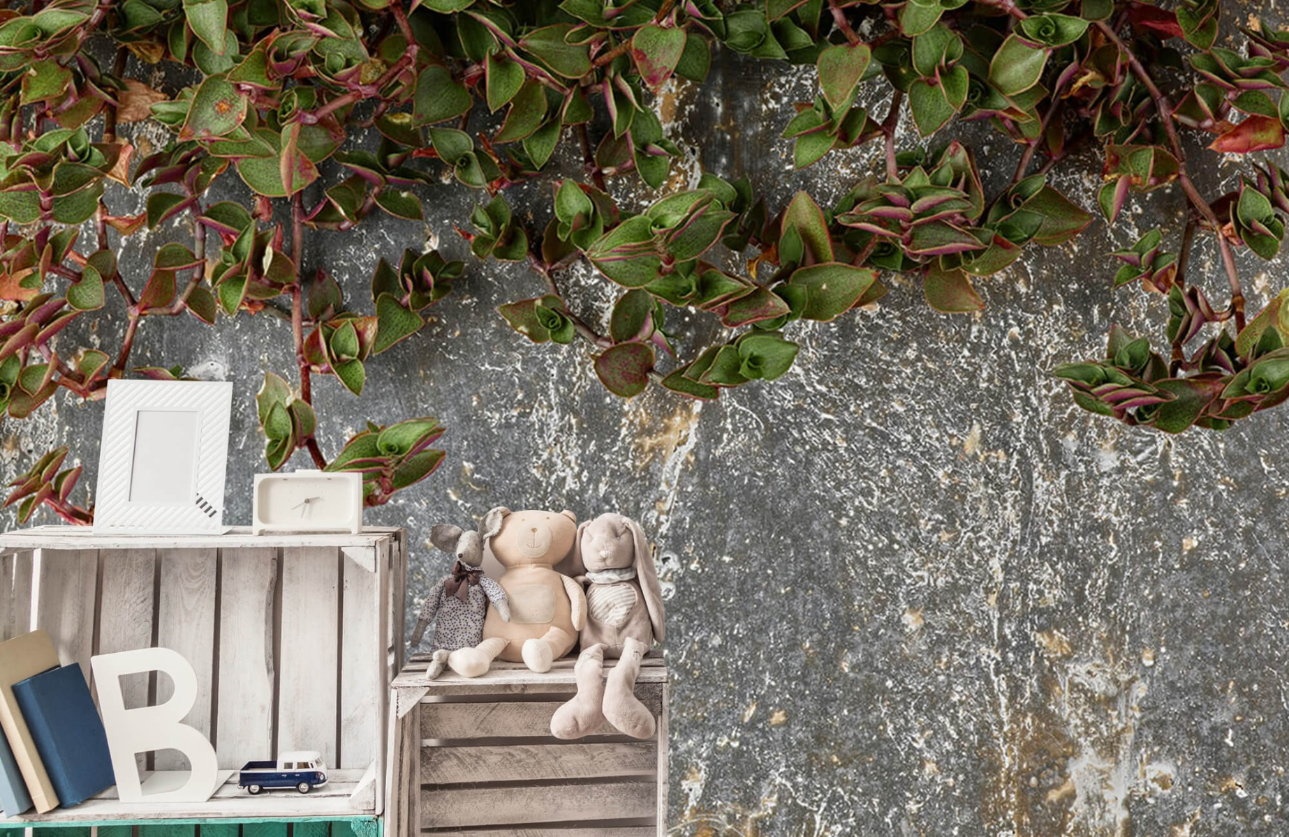Bladeren - Plantenbak - Wallexclusive - Slaapkamer 19