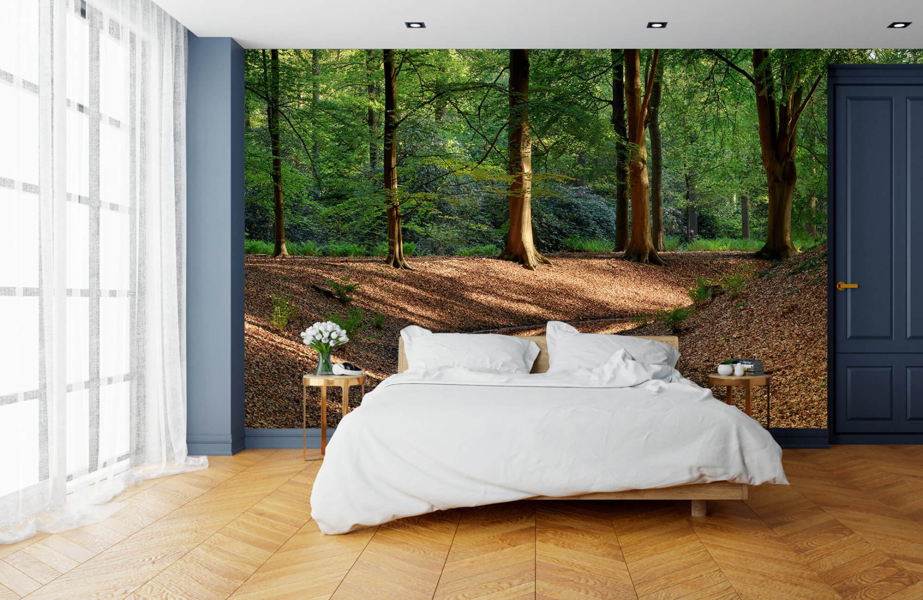 Bos behang - Beekje in bos - Wallexclusive - Slaapkamer 16