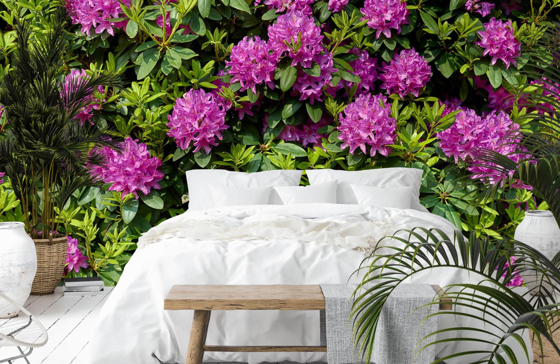 Bloemenvelden - Rododendrons - Wallexclusive - Slaapkamer 14