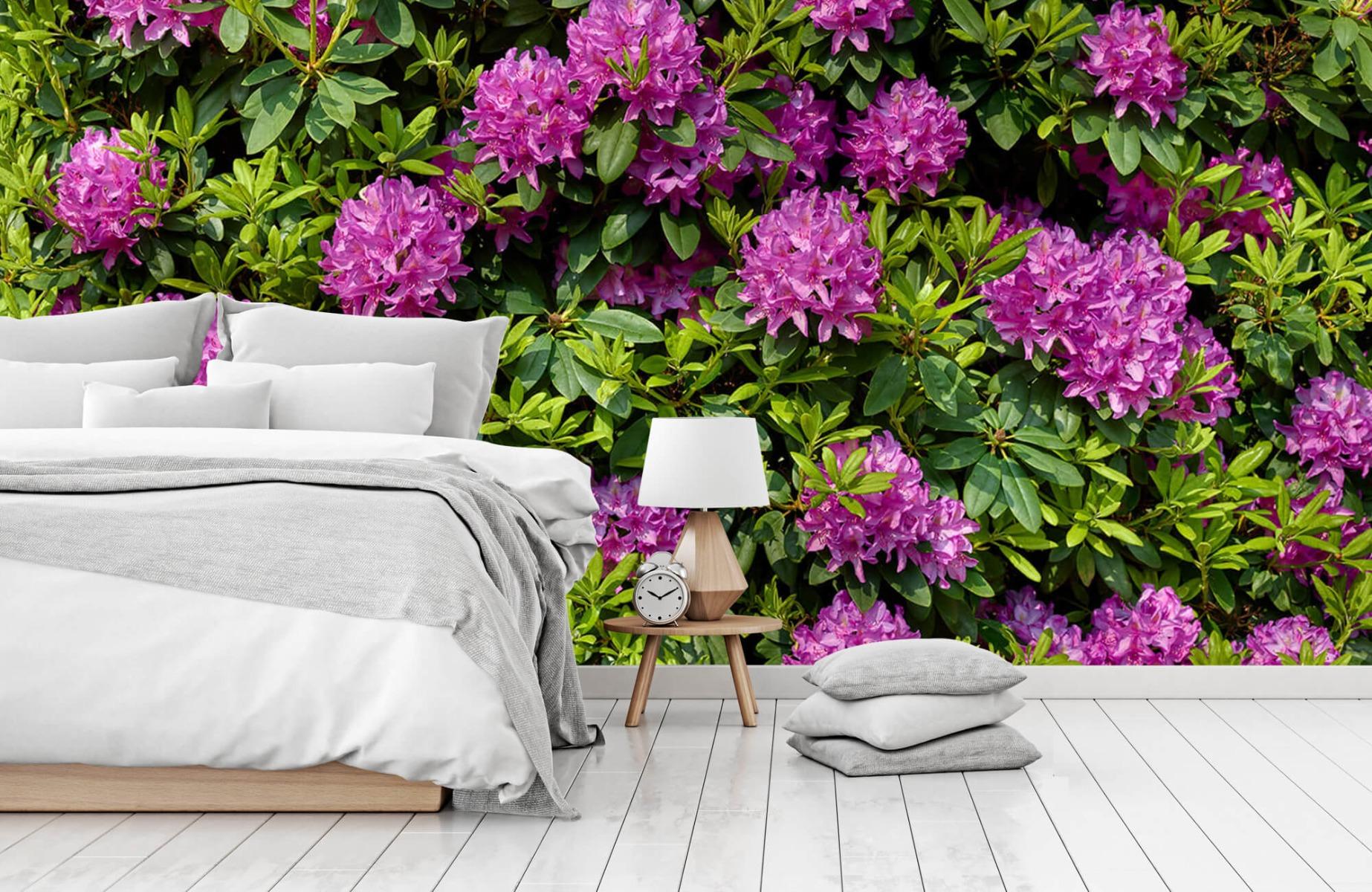 Bloemenvelden - Rododendrons - Wallexclusive - Slaapkamer 15