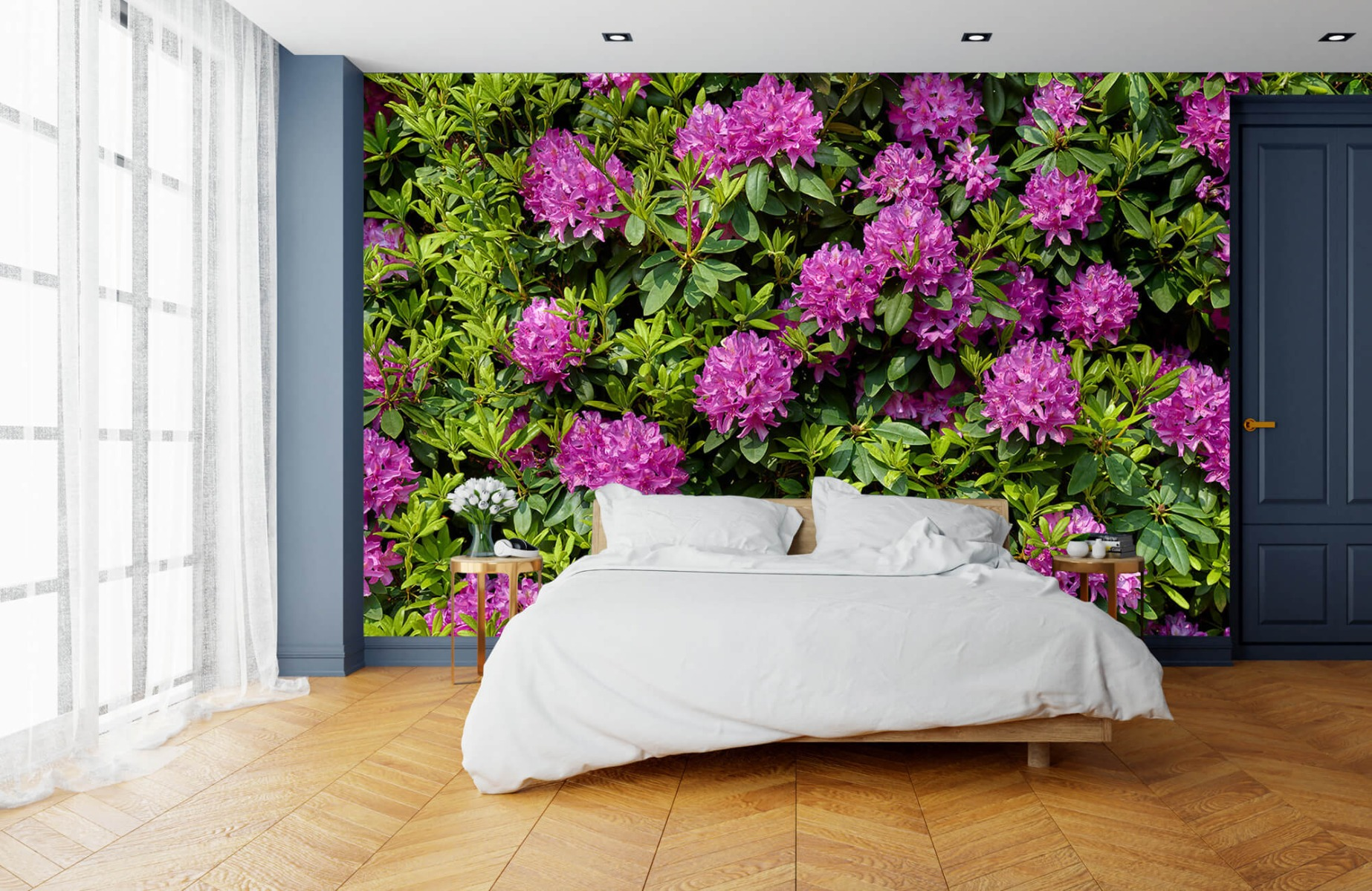 Bloemenvelden - Rododendrons - Wallexclusive - Slaapkamer 5