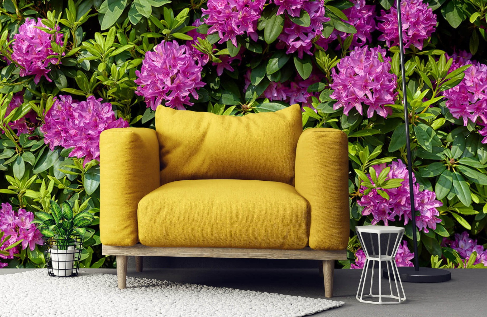 Bloemenvelden - Rododendrons - Wallexclusive - Slaapkamer 22