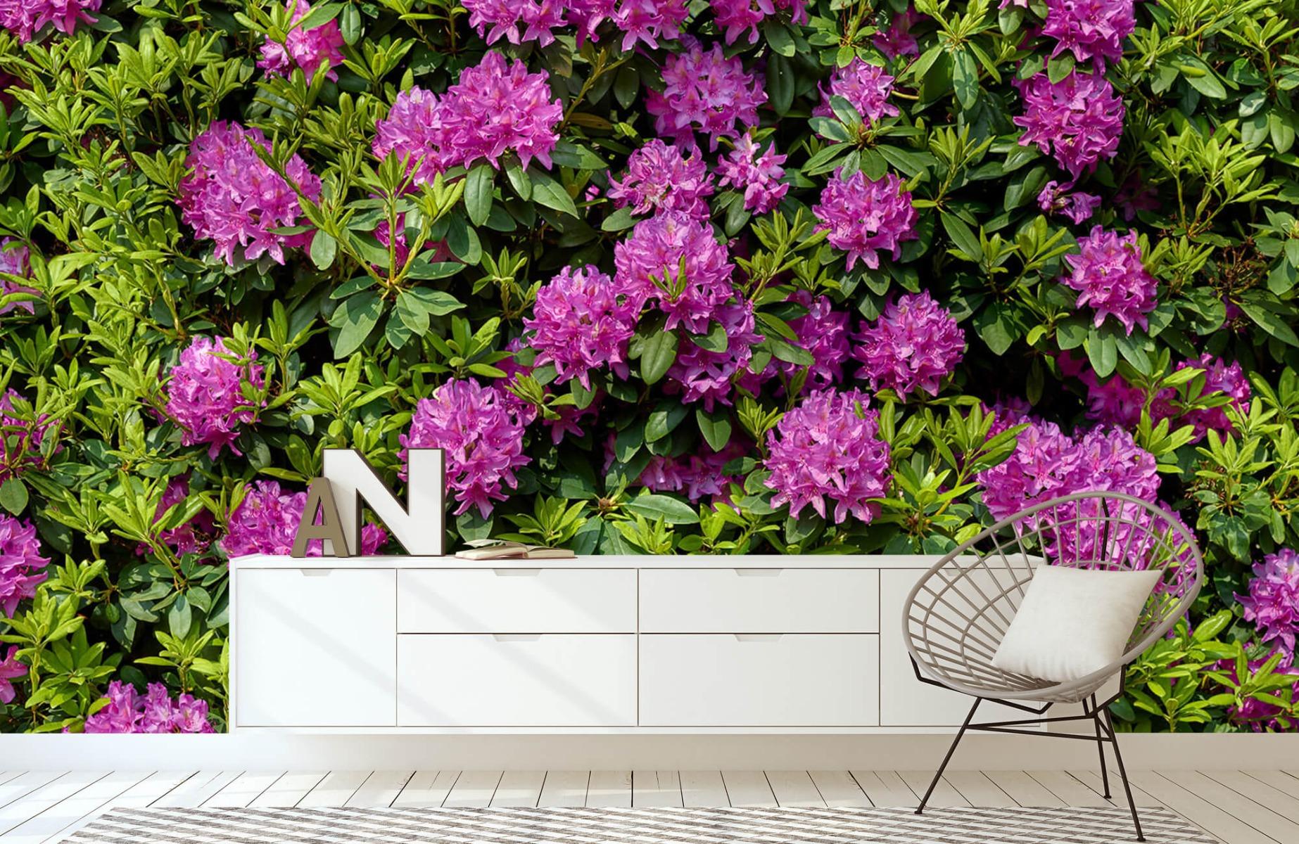 Bloemenvelden - Rododendrons - Wallexclusive - Slaapkamer 1